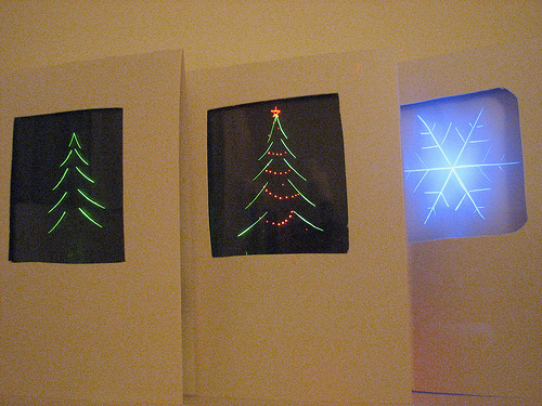 Edge Lit Holiday Cards